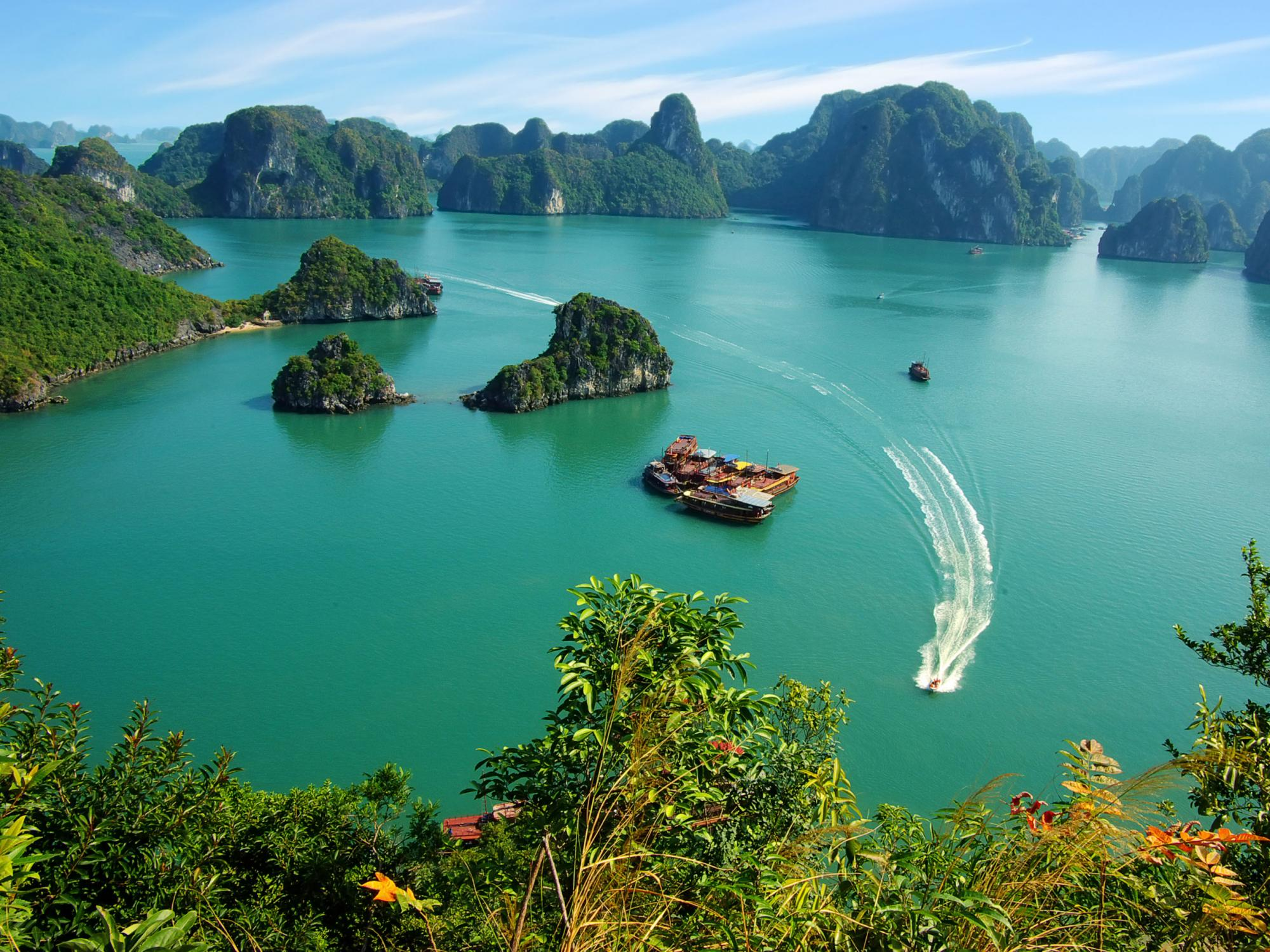 Halong bay in august
