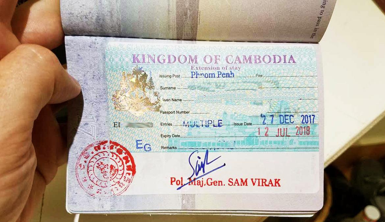 Cambodia visa extension