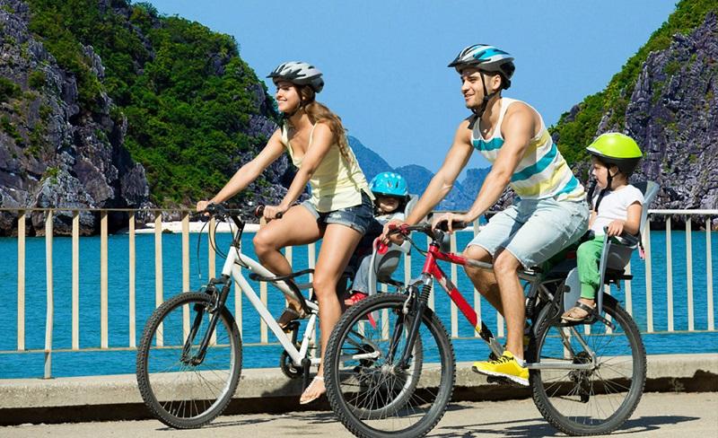 Cycling in coastline