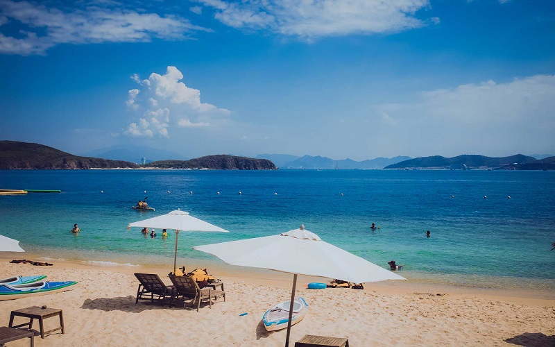 Relaxing on the beach in Nha Trang