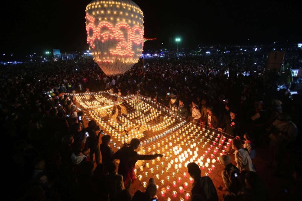hot air balloon festival in Myanmar