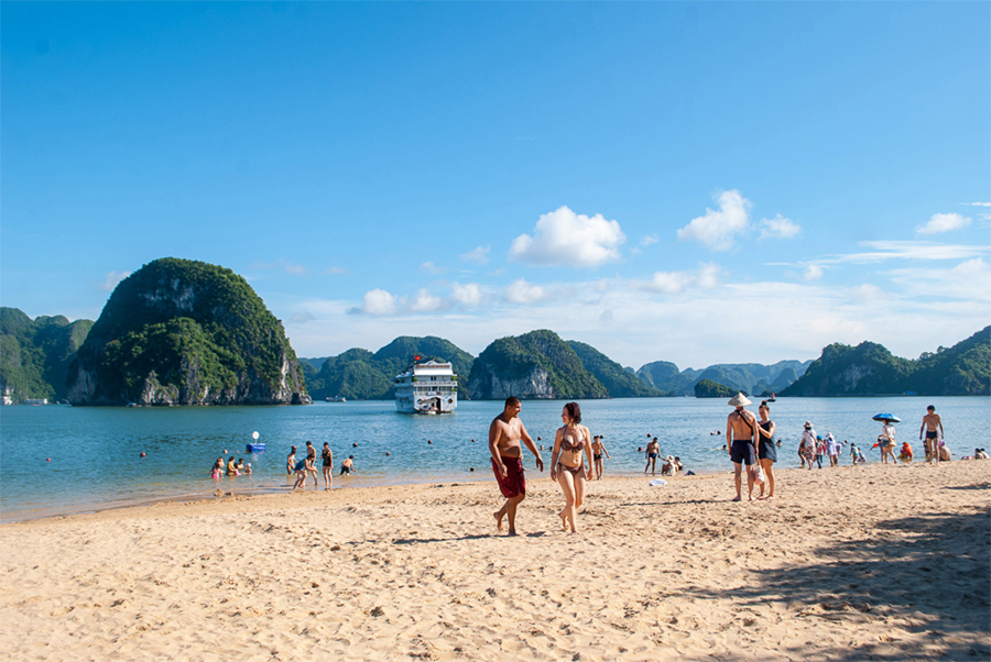 titop island on halong bay 2 day cruise