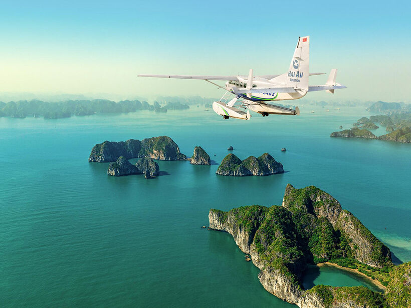 Halong seaplane - Top things to do in Ha Long Bay