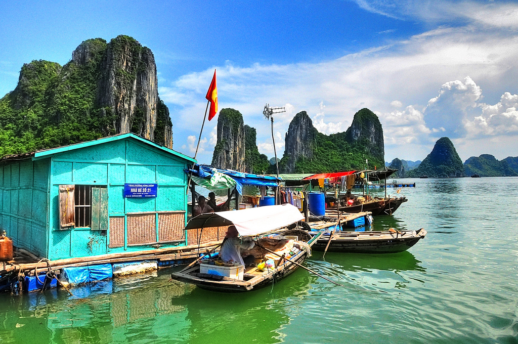 Floating village - must-do in Halong Bay