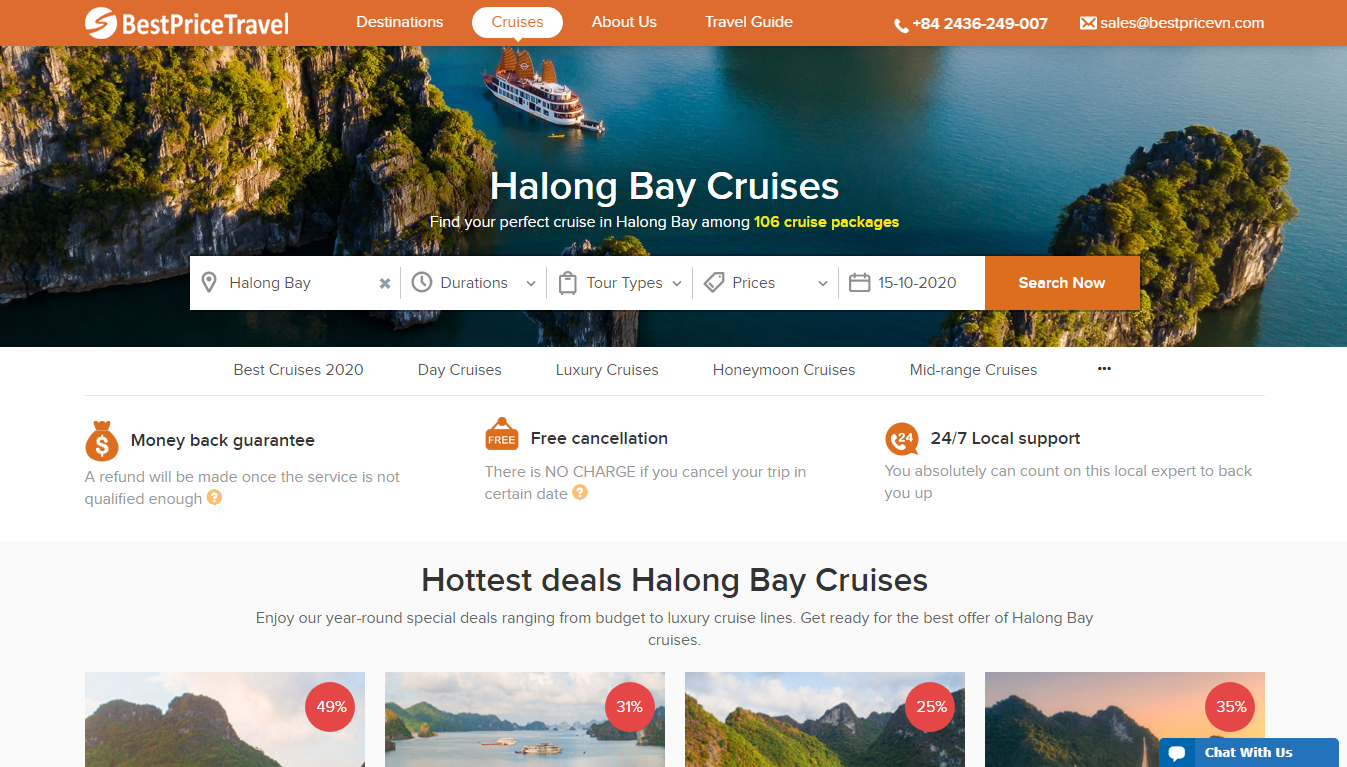Book Halong Bay Cruise through BestPrice Travel