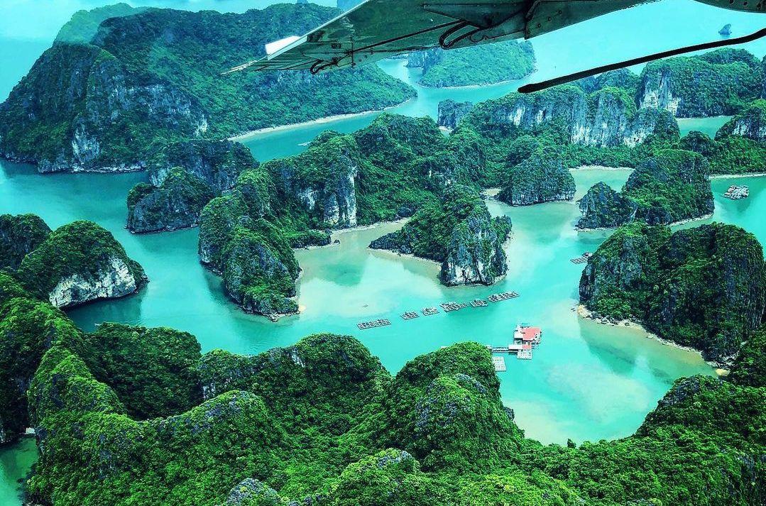 Hanoi to Halong Bay flight view