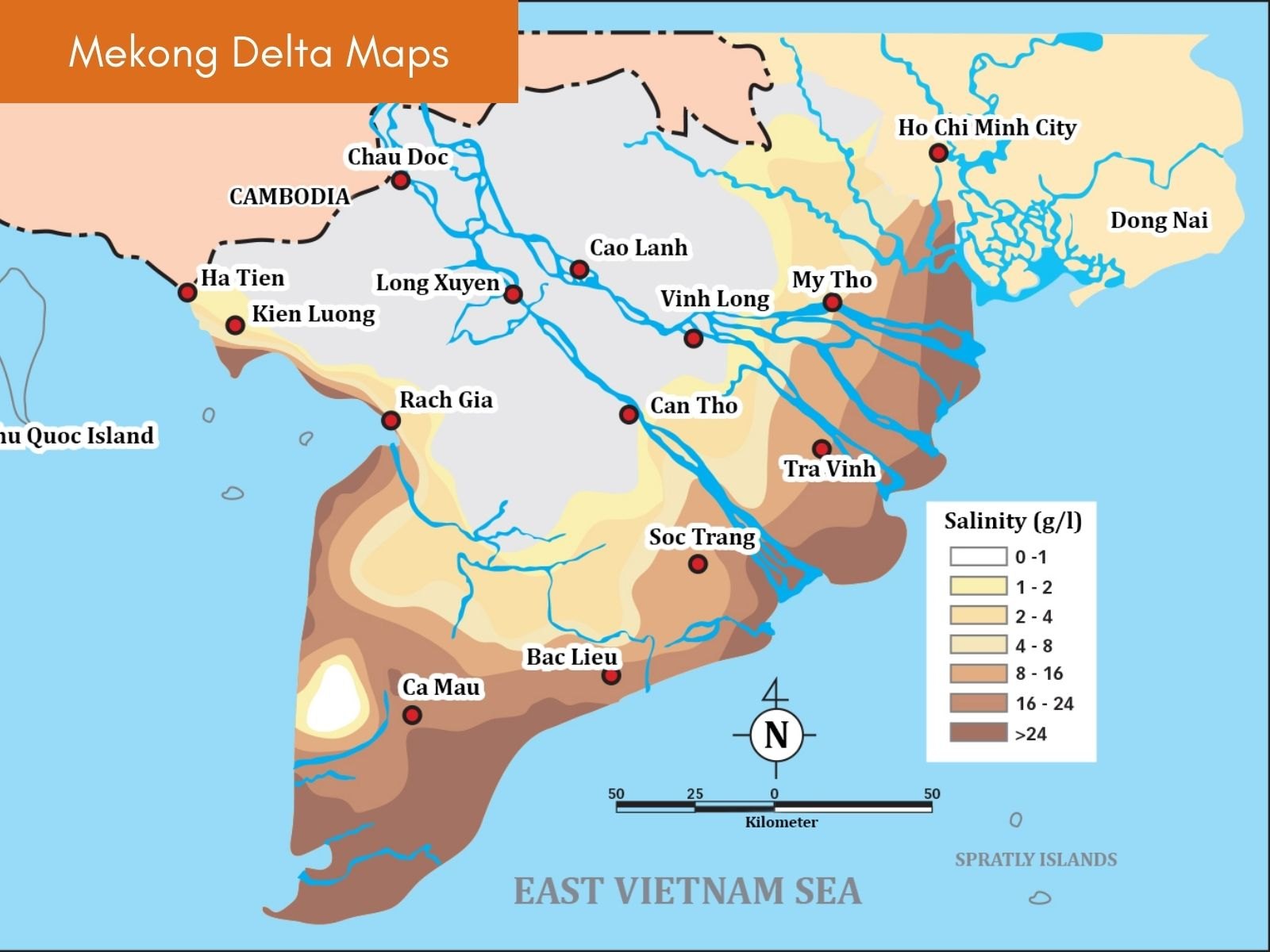 Ho Chi Minh & Mekong Delta Maps