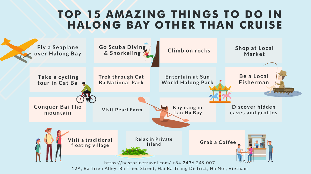 top 15 amazing things in Halong Bay other than cruise