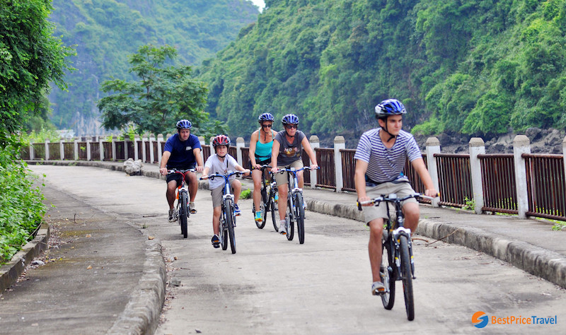 cycling tour Halong Bay