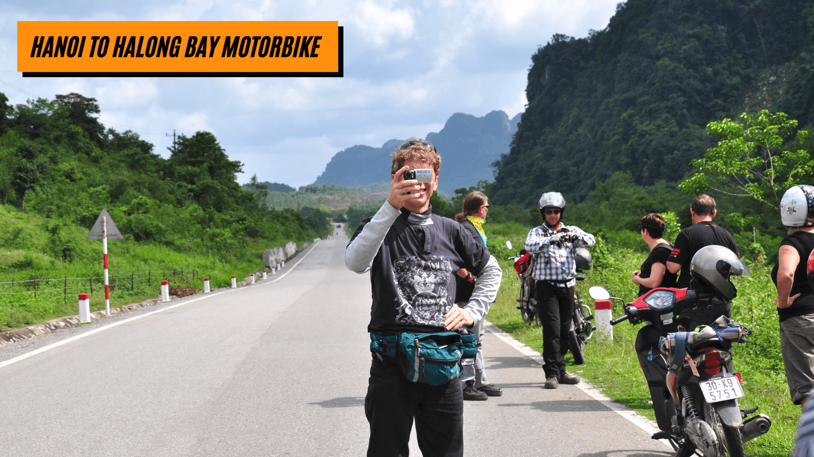 Hanoi to Halong bay motorbike