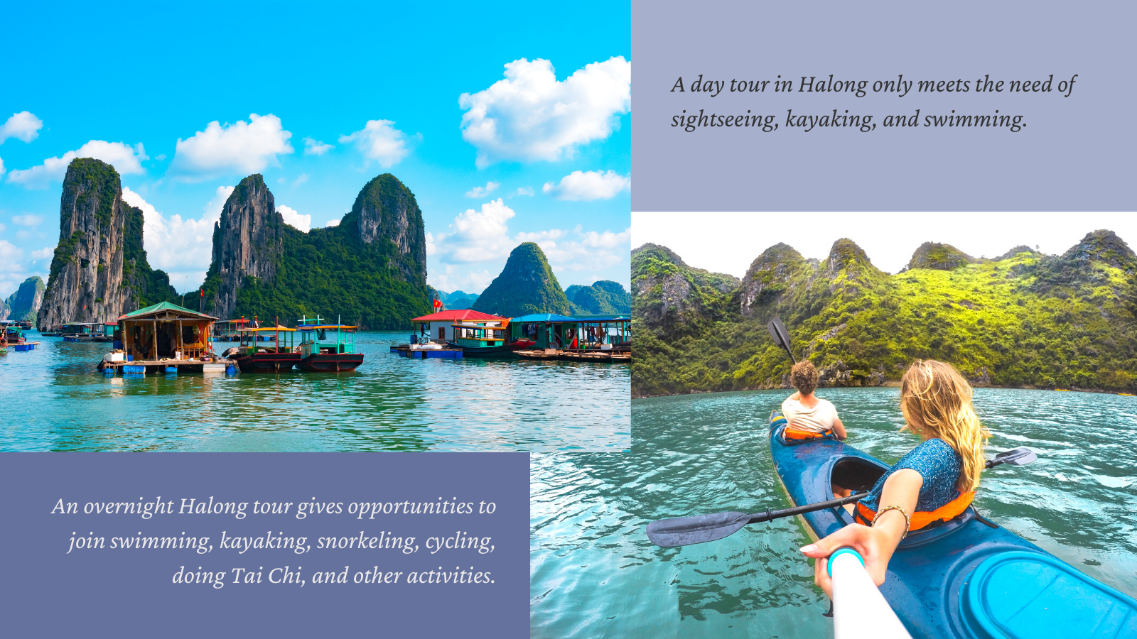 Differences between a Halong Bay day trip and overnight tour