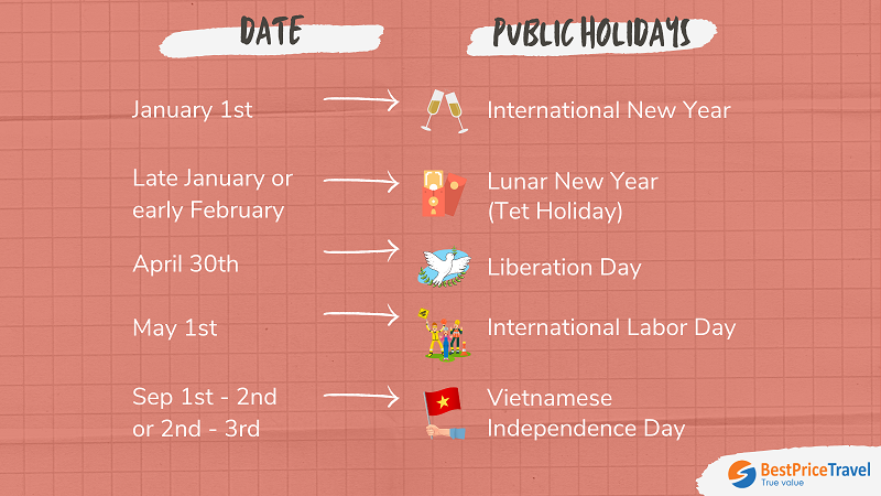 public holidays in halong