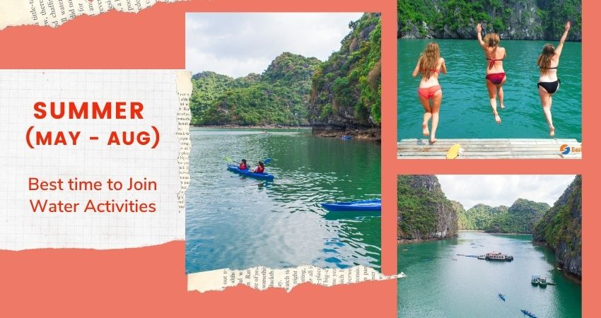 Best time to have a swim in Halong Bay