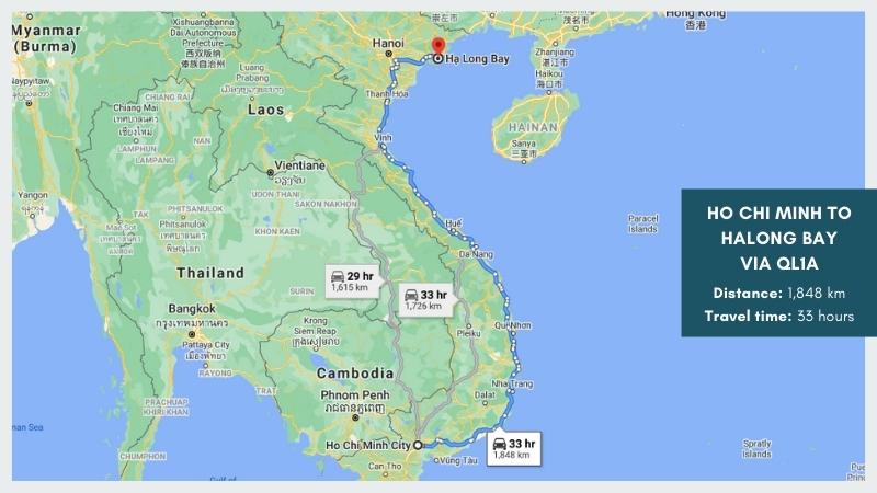 Ho Chi Minh to Halong Bay