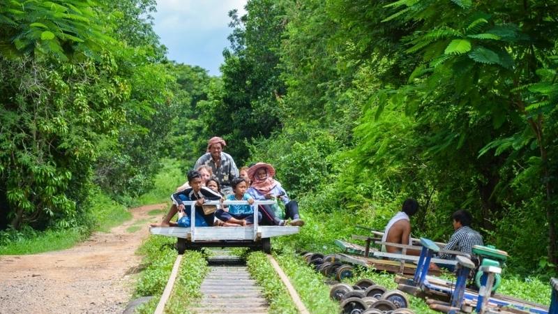 Bamboo Ride in Battambang