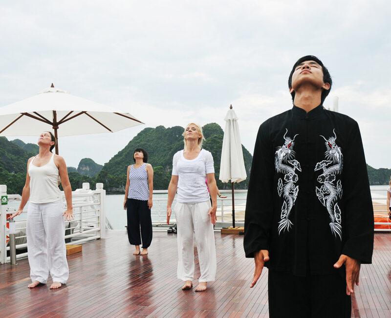 Tai Chi in Halong Bay
