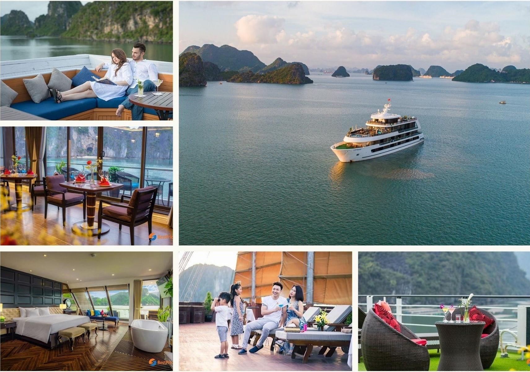 Cabin & Facility of a Luxury cruise in Halong Bay