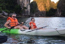 Ms.Jacqui Buckley And Family In Halong