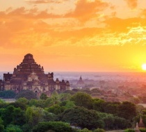 21618 Myanmar River Cruise Bagan Temples Sunset