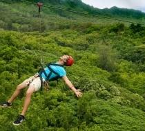 Zipline Fly In Thanh Tan Alba Hot Spring