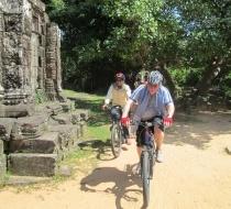 Biking to visit temples