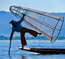 Leg Rowing Fishermen
