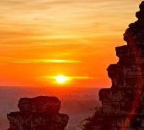 Sunset At Bakheng Hill