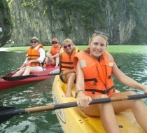 Kayaking on Halong Bay