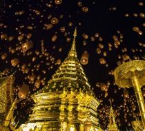 Wat Phrathat Doi Suthep Festival Chiang Mai Thailand