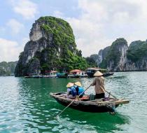 Rowing Boat Ha Long Bay