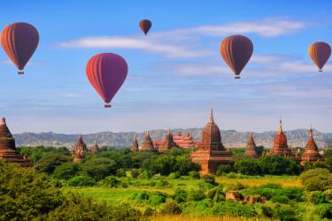 Bird's eye view Myanmar 7 days