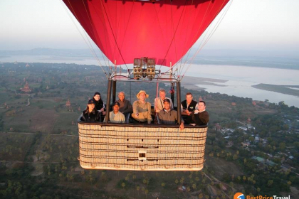Bird's eye view Myanmar 7 days