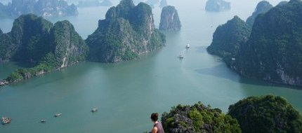 View Over Halong Bay From Bai Tho Mountain