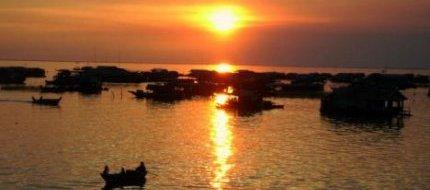 Sun Set at Tonle Sap Lake
