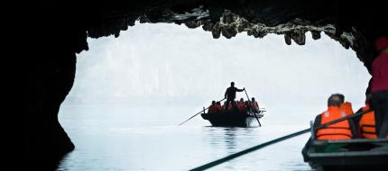 Bamboo Boat Dark Cave