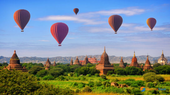 Bird's eye view Myanmar 7 days - No 5 Luxury