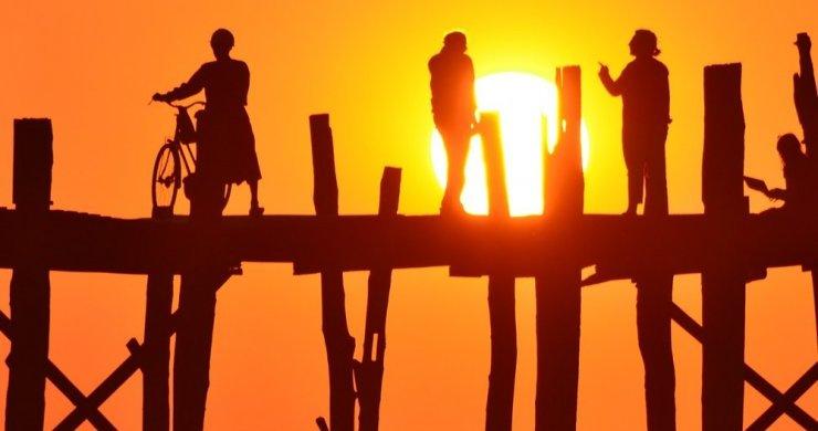 Sun Setting At U Bein Bridge