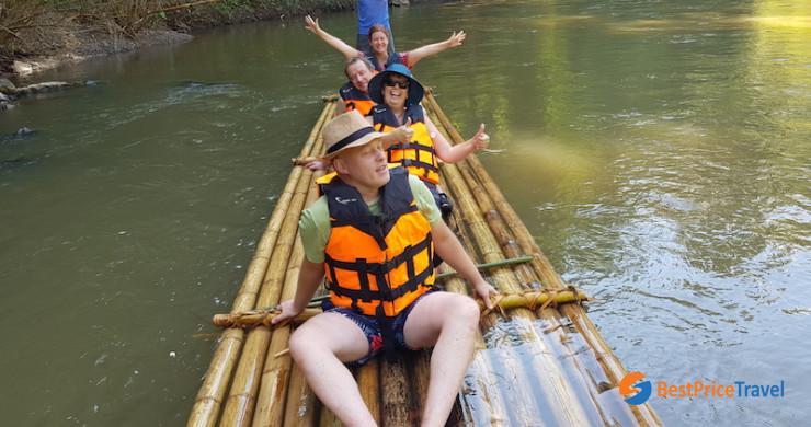 Bamboo Rafting Along Maeteng River