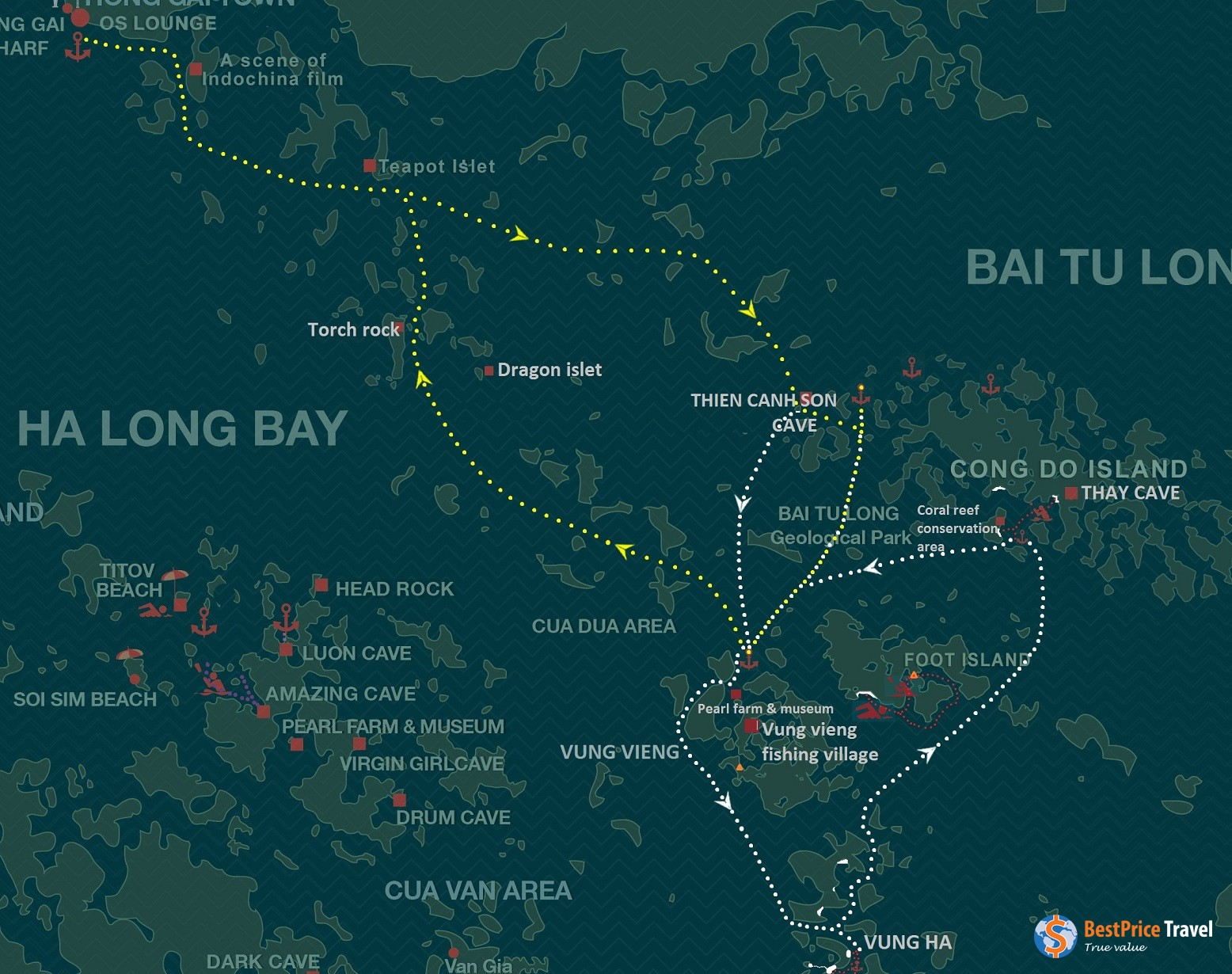 DoneRoute Map For Oriental Sails Cruises