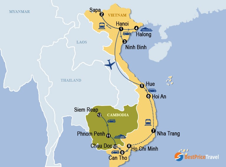 Vietnam And Cambodia Grand Discovery 22 Days