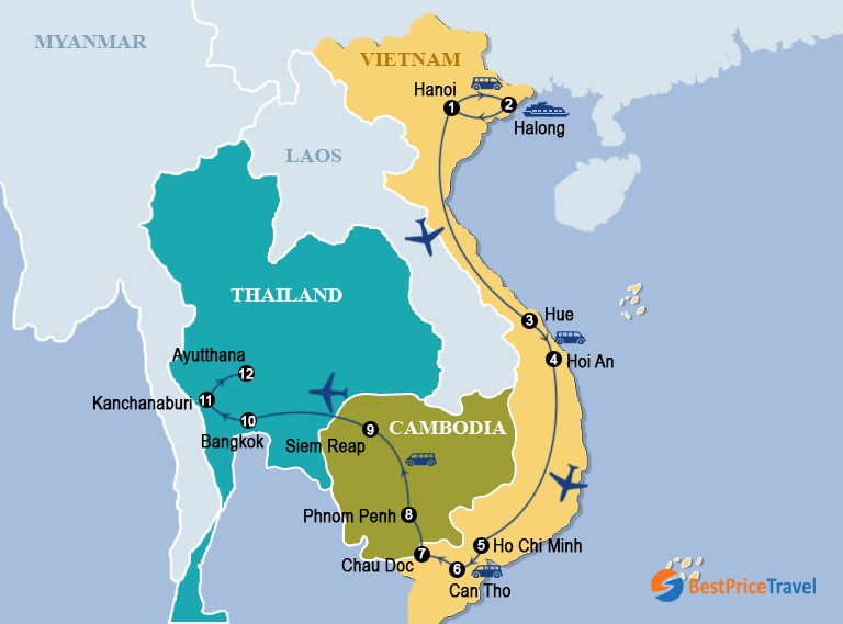 Highlights Of Vietnam, Cambodia & Thailand 19 Days
