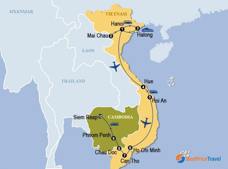 Deep Insight Vietnam And Cambodia 22 Days